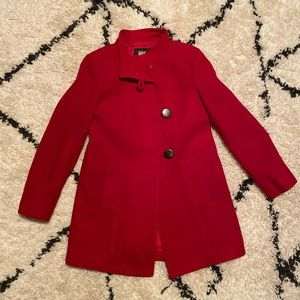 Style&Co Red Wool Peacoat Jacket